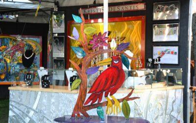 """PRETTY BIRD"" BY KRISTIN DESANTIS IS CRESTED CROW OF COTTONWOOD ART FESTIVAL"