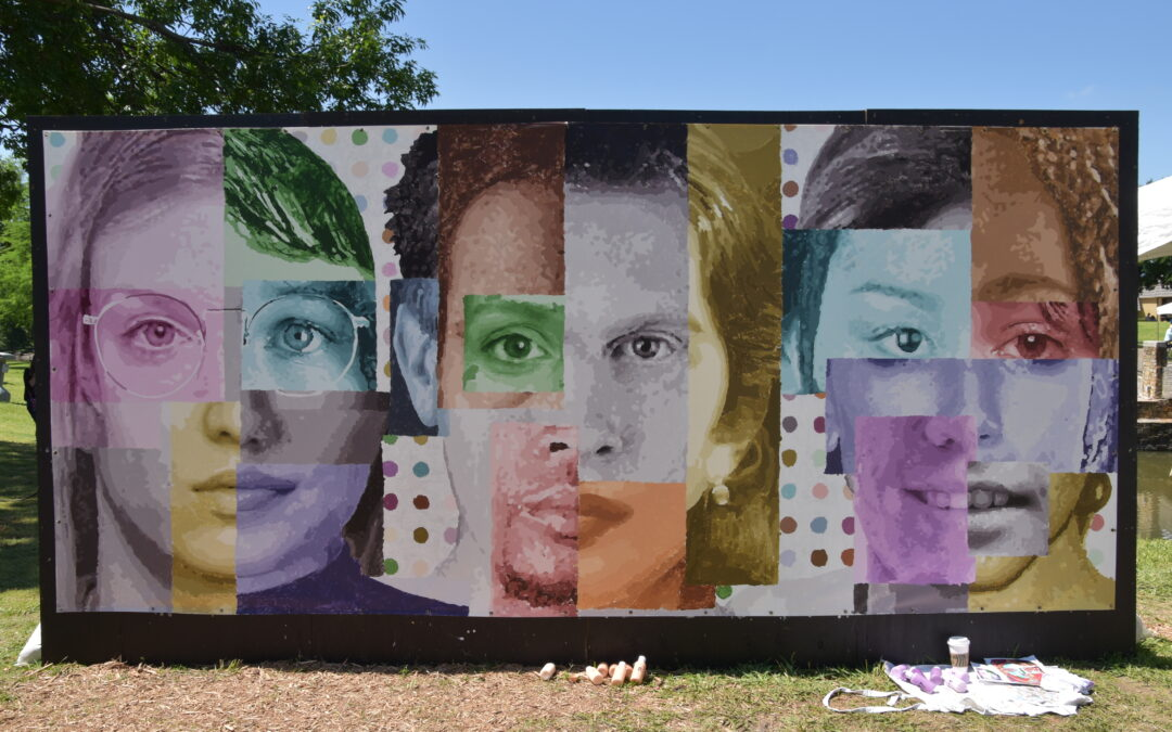 MURAL PAINTED AT COTTONWOOD ART FESTIVAL
