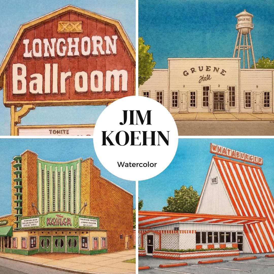 Jim Koehn Watercolor Paintings Cottonwood Art Festival